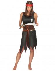 Svarta Becky - Piratklänning för vuxna
