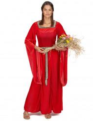 Medeltida klänning Röd