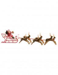 Tårtdekoration med Jultomtesläde 22 cm