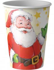 8 muggar till jul med tryck av tomten 200 ml