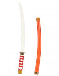 Rött ninjasvärd i plast för barn