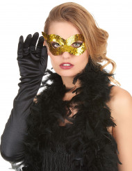 Guldfärgad venetiansk mask