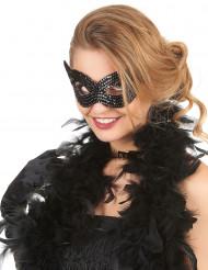 Svart venetiansk mask