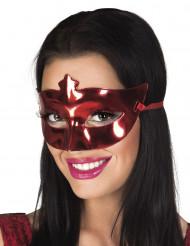 Metallröd venetiansk mask