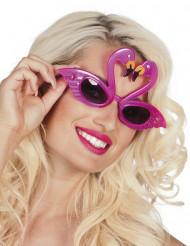 Glasögon med rosa flamingos
