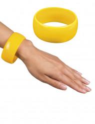 Brett armband i gult