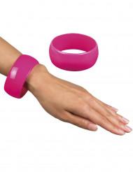 Brett armband Rosa