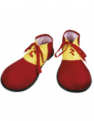 Clownskor Röda och gula Vuxen