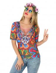 Hippie t-shirt för vuxna till temafesten