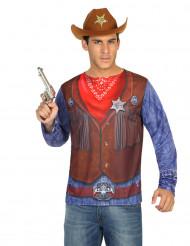 Cowboy t-skjorta vuxen