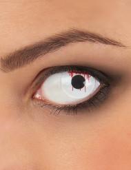 Blodiga linser för vuxna -Halloweensminkning