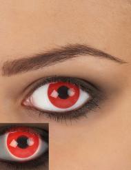 UV-röda linser - Halloweensminkning