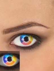 Ögonlinser UV regnbågsfärgade