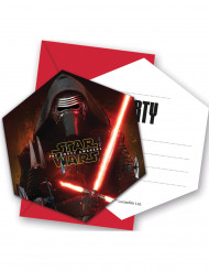 6 Star Wars VII™ inbjudningskort