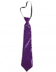 Lila slips med paljetter
