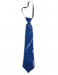 Blå slips med paljetter