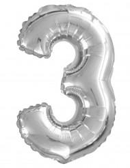 Aluminiumballong siffran 3 35 cm