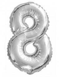 Siffran 8 - Aluminiumballong till festen 35cm