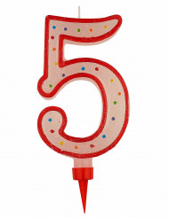 Siffran 5 - Stort tårtljus till kalaset