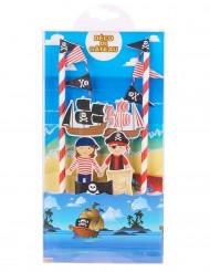 Pirattårta - Dekorationskit till kalaset