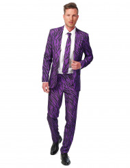 Lila tigermönstrad kostym Suitmeister™
