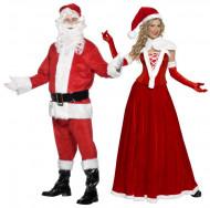 Lyxiga juldräkter för tomtefar och tomtemor