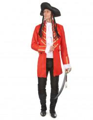 Piratkapten Röd Maskeraddräkt