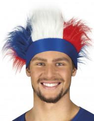 Pannband med blått vitt och rött hår
