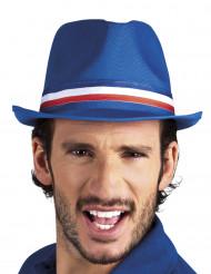 Hatt med kantband i de franska färgerna