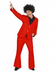 Röd Disco-utklädnad för vuxen