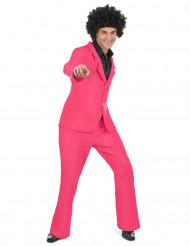 Rosa disco-utklädnad vuxen