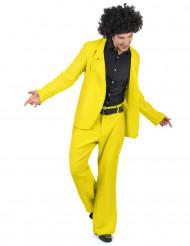 Gul disco - utklädnad vuxen