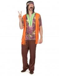 Chilliga Charlie - Hippiekostym för vyxna till temafesten