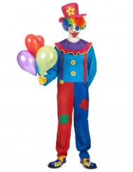 Doodles - Clownkostym i vuxenstorlek till temafesten