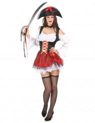 Maskeraddräkt söt pirat vuxen