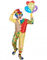 Bingo - Clownkostym för vuxna till maskeraden