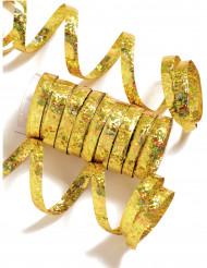 Rulle med 10 gyllene serpentiner till festen