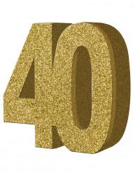 Siffran 40 - Bordsdekoration till 40-årsfesten 20 x 20 cm