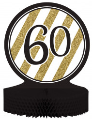 60 år i svart och guld - Bordsdekoration till 60-årsfesten