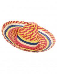 Mexikansk sombrero i rött och gult - Maskeradhattar för vuxna