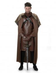 Brun medeltida riddare - utklädnad vuxen
