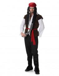 Kluriga Karl - Piratdräkt med väst för vuxna