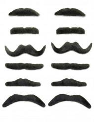 12 Svarta Mustacher