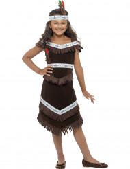 Brun indiandräkt för barn till maskeraden