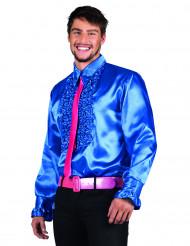Blå discoskjorta för vuxna
