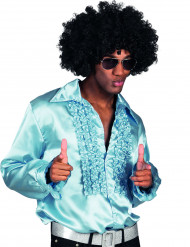 Ljusblå discoskjorta för vuxna