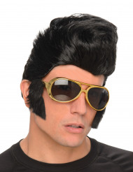 Rockperuk med Glasögon Vuxen