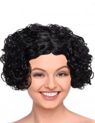 Kort svart lockig peruk för vuxna