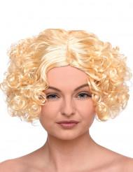 Kort blond peruk för vuxna med lockar
