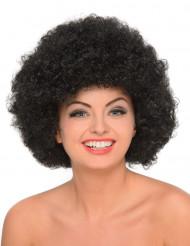 Svart afrofrilla - Maskeradperuk för vuxna